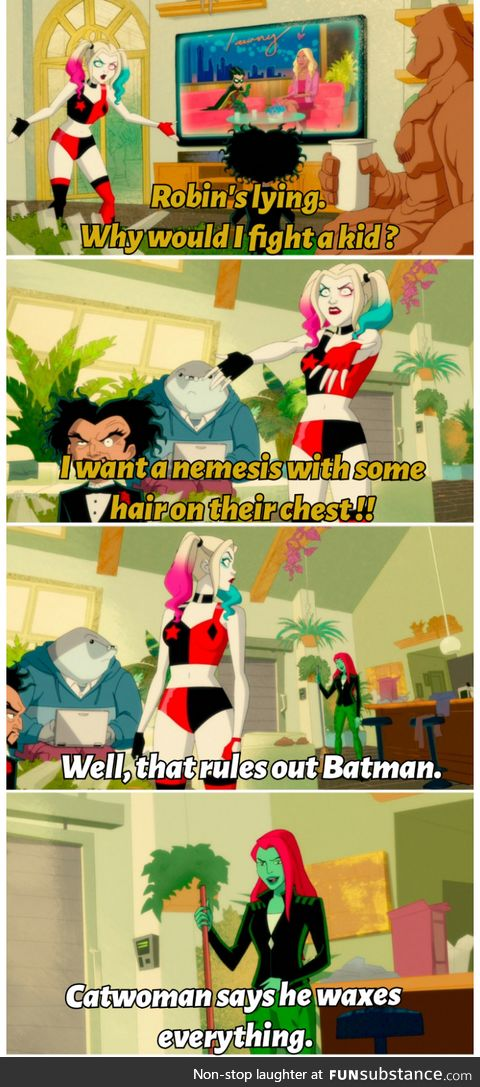 Batman waxes everything