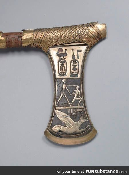 A circa 3,600 year old Egyptian axe