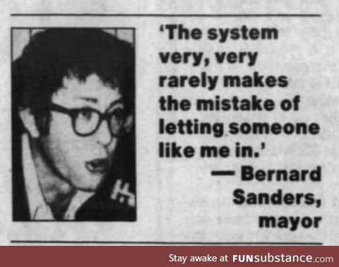 Bernie bro was the accident