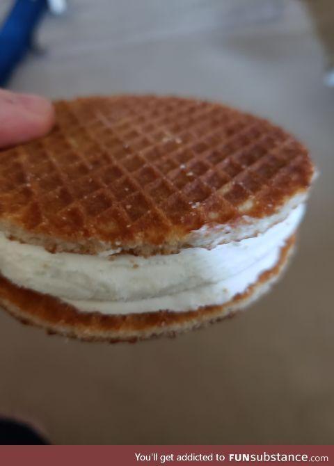 Stroopwafel ice cream sandwiches