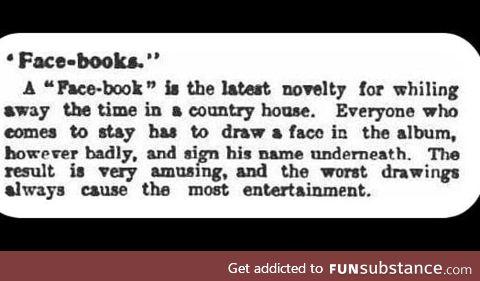 The Face Book, circa 1902
