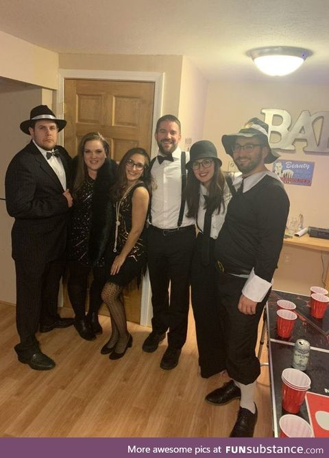 Went to a 20's themed party last night. The invite didn't specify which 20's we