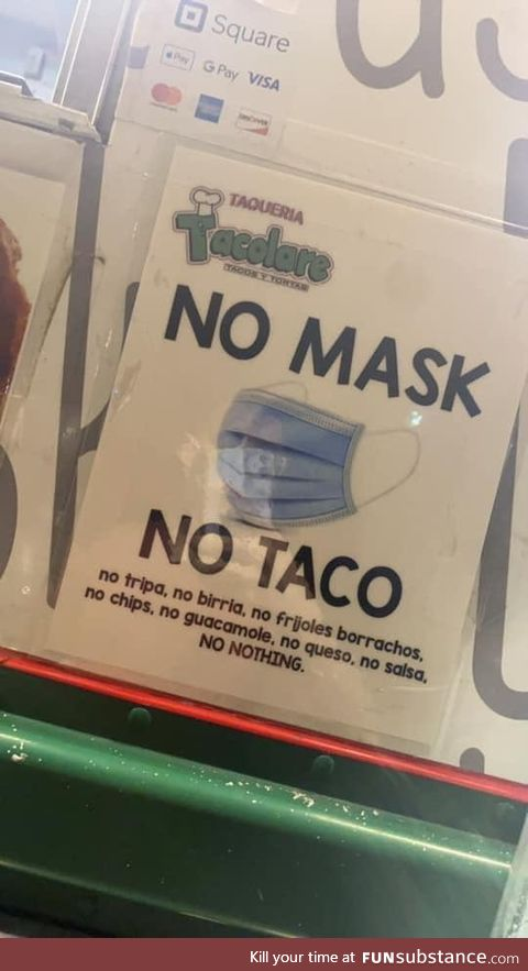 No mask no sausage