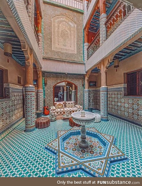 Mosaic in Moroccan architecture