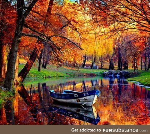 Beautiful boat in river