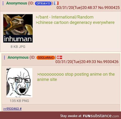 Anon sees Chinese cartoon degeneracy everywhere