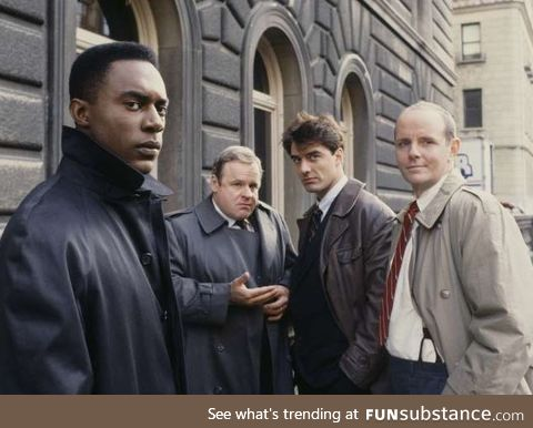 The cast of the first season of Law and Order. This picture is almost 30 years old