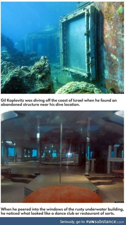 Evil hideout? It's an underwater strip club
