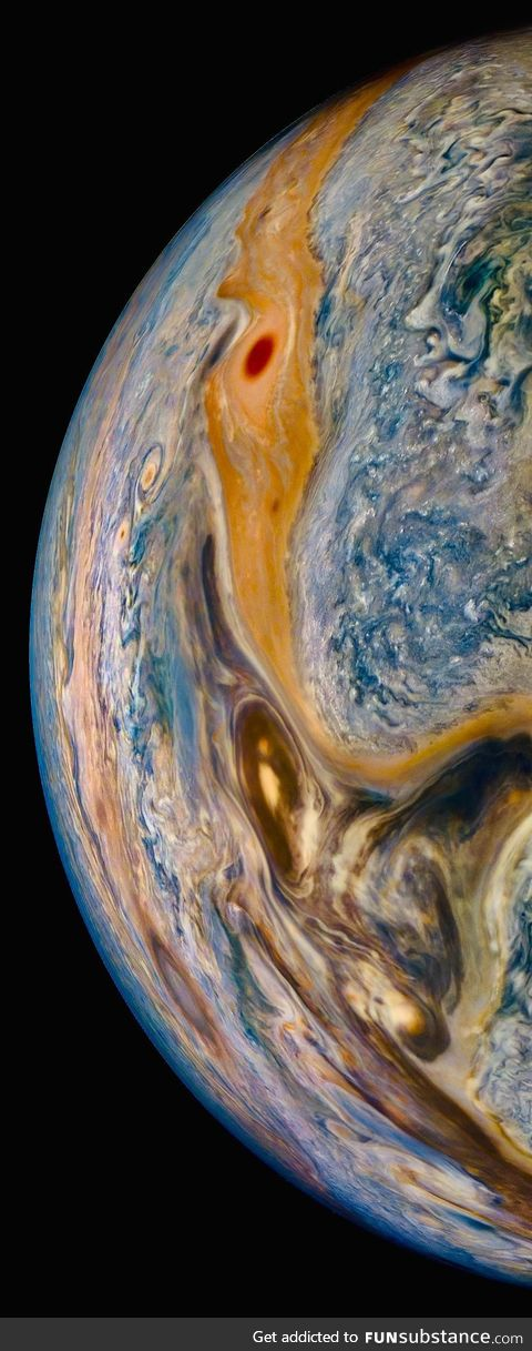 The universe is trippy, Nasa Juno captured it, this Thursday
