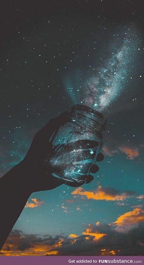 """""""Universe in a jar"""""""