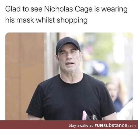 Nicolas Cage doing his part!