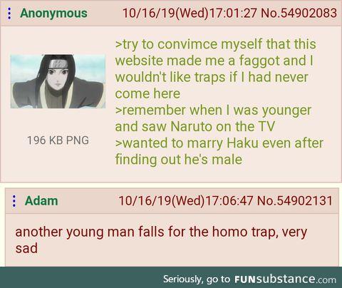 Anon falls for the homo trap