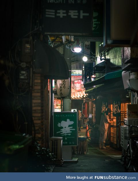 Night streets of Osaka, Japan