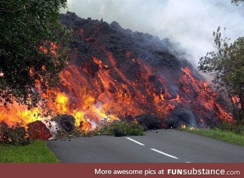 A wall of lava in all of its glory