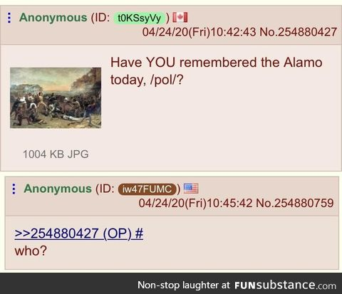 Anon forgets
