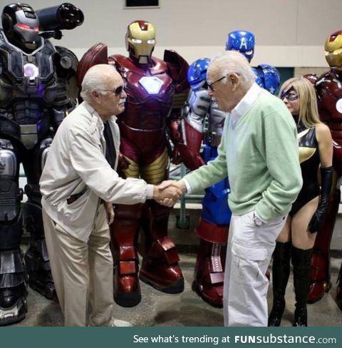 Stan Lee meeting Stan Lee