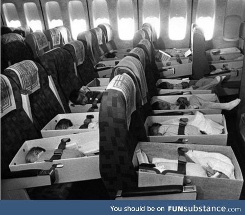 Babies who lost their parents during the Vietnam War are airlifted back to the United