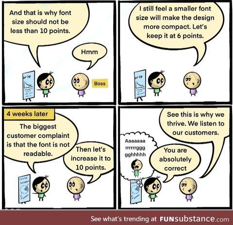 Boss is always correct