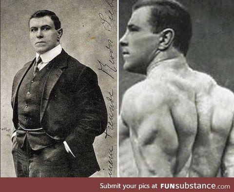 George Hackenschmidt. Creator of the bench press and hack squat. Circa 1907
