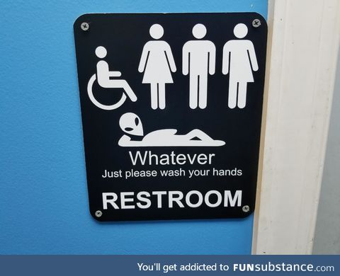 Bath room sign at a Shuckin Shack in NC