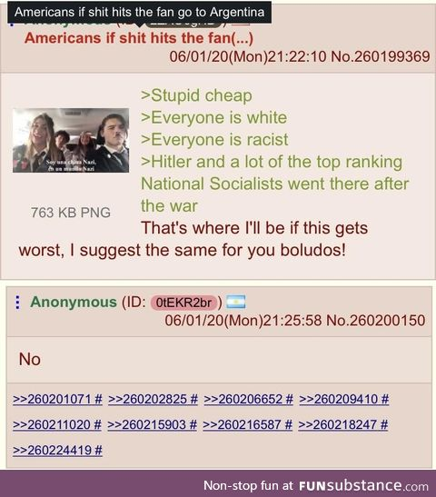 Argentinanon doesn't want Amerimutts