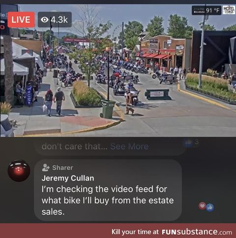 Best comment while watching the Sturgis rally