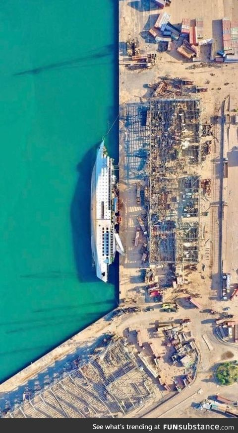 The Orient Queen cruise ship gave up the ghost nearby the explosion in Beirut