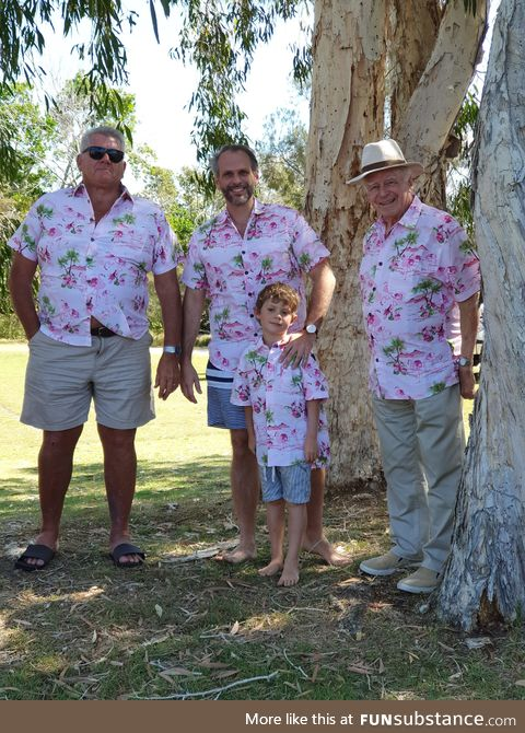 Lucky enough to have 4 generations in a photo for father's day here in Australia