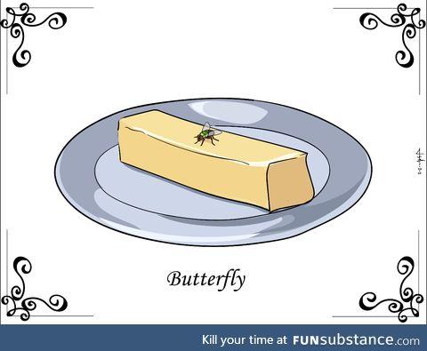 Suddenly, butterfly