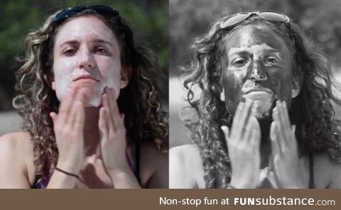 Sunscreen VS UV camera