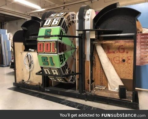 The backside of the 'Price is Right' wheel