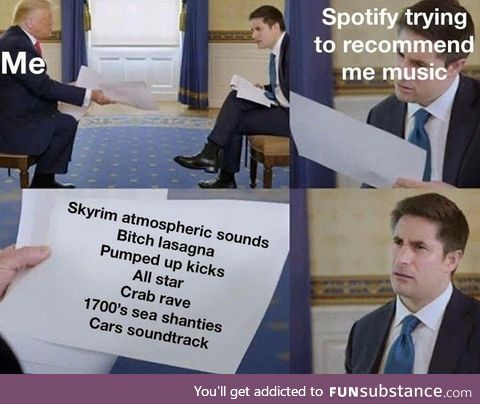 What would Spotify do with a drunken sailor?