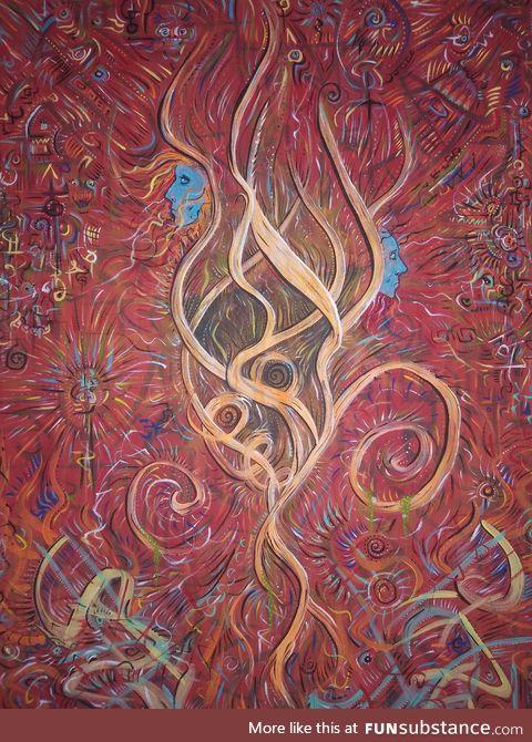 Broken. Acrylic on canvas trip painting