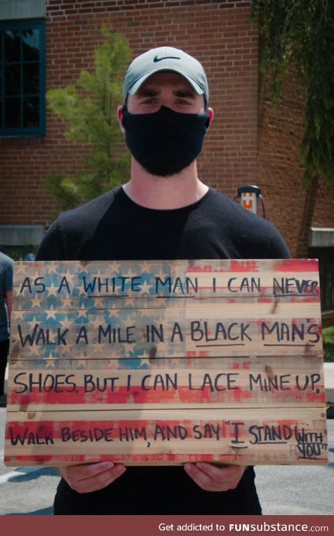 Photo taken in small Swarthmore, PA protest today