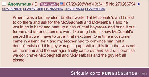 Anon orders a McSpaghetti