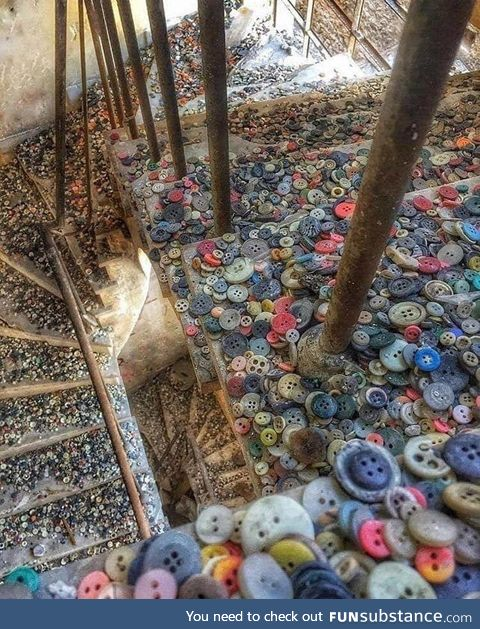 An abandoned button factory