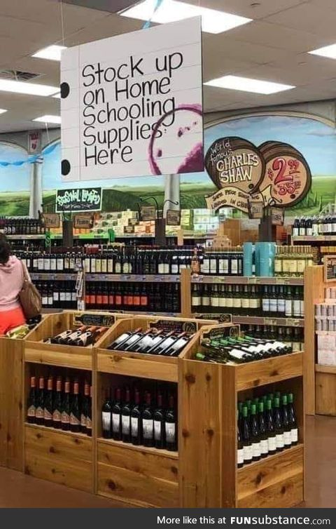 Essential home schooling supplies at Trader Joe's