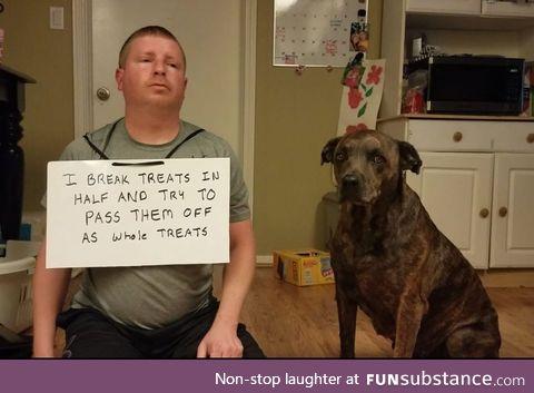 He got shamed