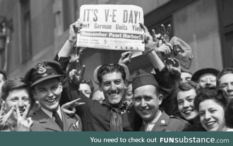 Today 75 years ago, Germany officially surrendered, happy V.E. Day!