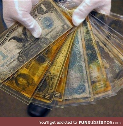 Dolla dolla bills recovered from The Titanic, allegedly