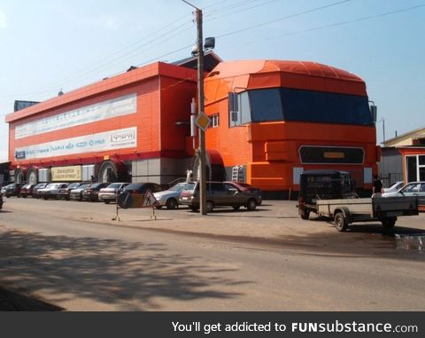 An auto part store in Russia