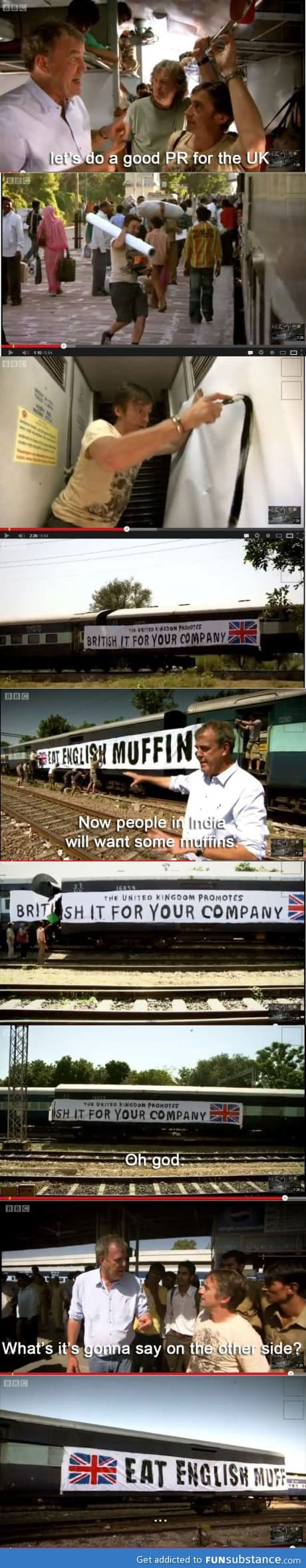 Top Gear does advertising