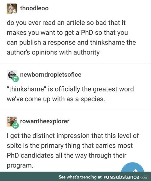 One PhD to rule them all, Doctor