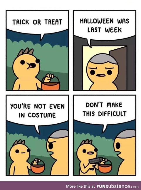 Belated happy halloween !