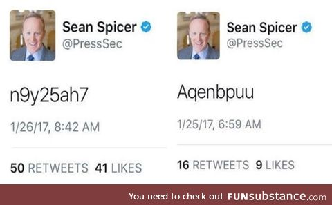Let us never forget when the White House press secretary posted his password publicly two
