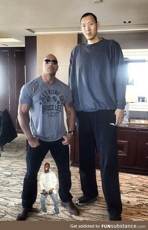 Had to add Kevin Hart for scale