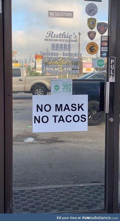 San Antonio restaurant not messing around
