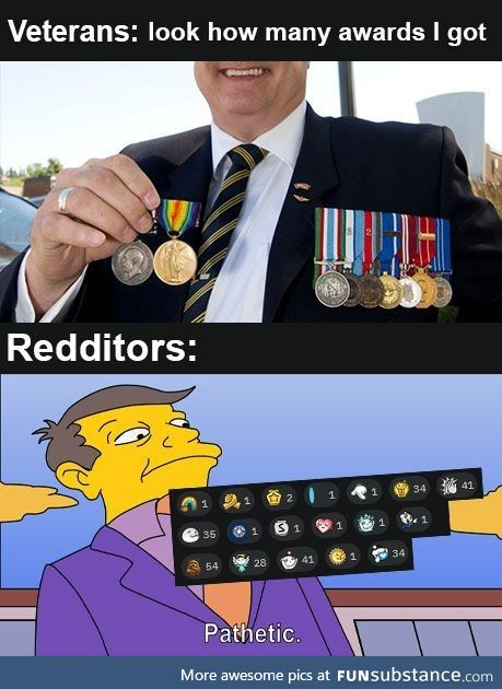 Veteran's awards are real though