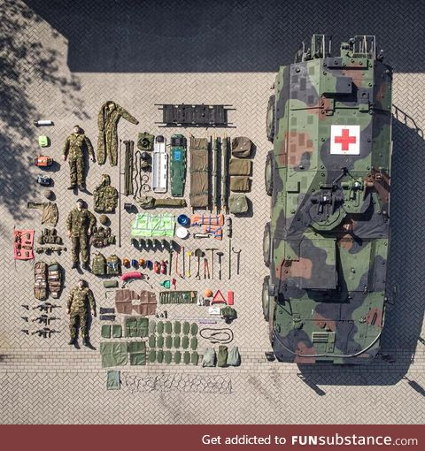 Contents of a Boxer MRAV of the Royal Netherlands Army