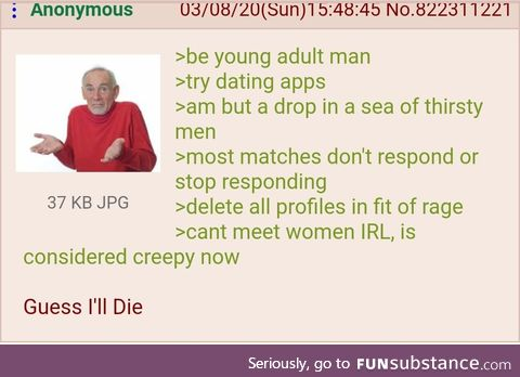 Anon can't get a girlfriend